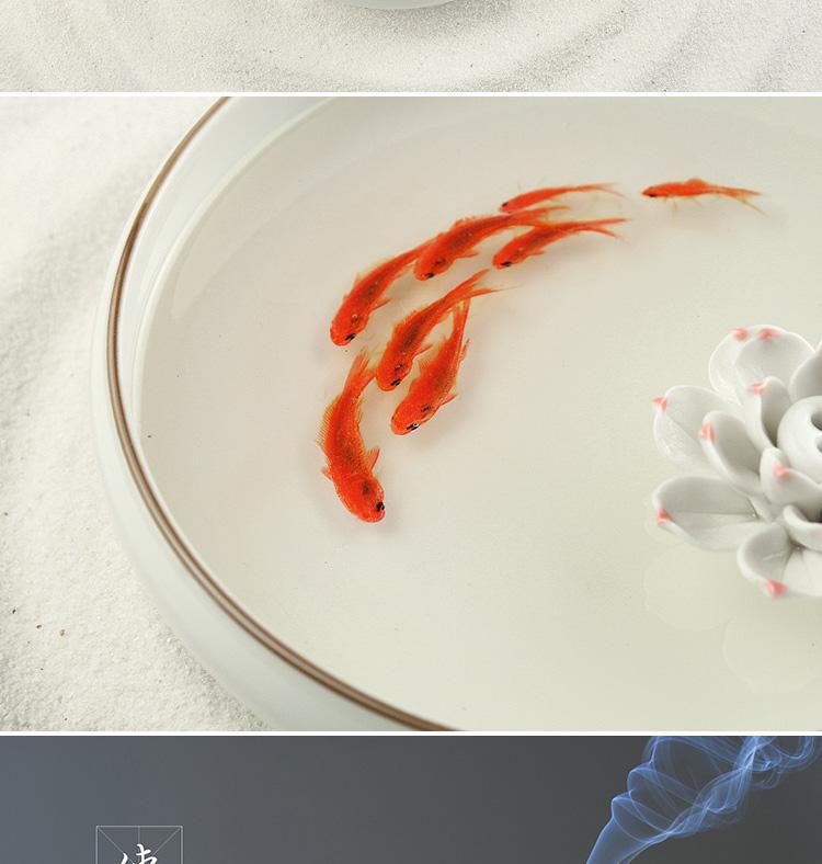 3d树脂 金鱼 立体 树脂画 东游记 香薰盘 创意家居摆件 结婚礼物